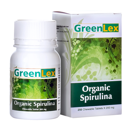 Picture of GREENLEX Organic Spirulina  - 250 chewable tablets