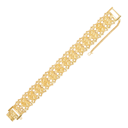 Picture of Bio-Magnetic Gold Plated Bracelet Jewellery (BT8592)
