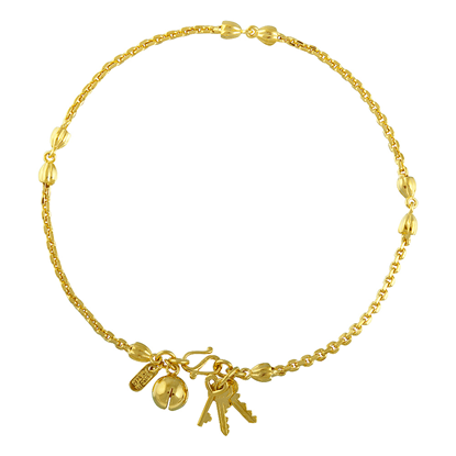 Picture of Gold Plated Anklet Jewellery (AL8522)