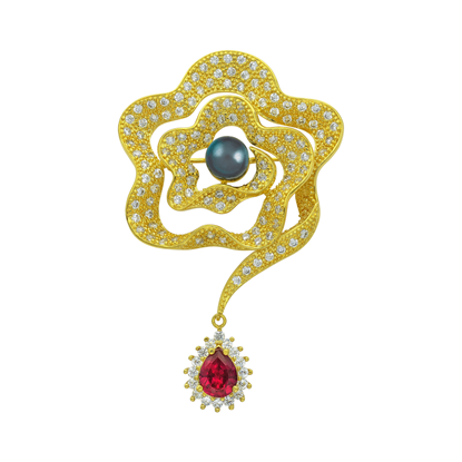 Picture of Gold Plated Brooch Jewellery (BH8925)