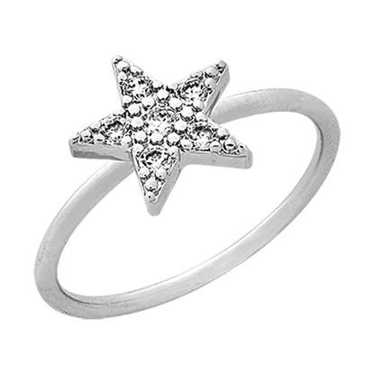 Picture of Rhodium Plated Ring Jewellery (RG8932)