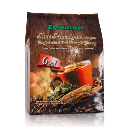 Picture of ZHULIAN Premix Coffee with Tongkat Ali, Misai Kucing & Ginseng