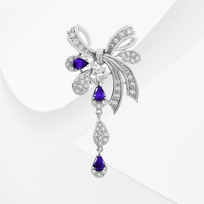 Picture of Rhodium Plated Brooch Jewellery (BH8974)