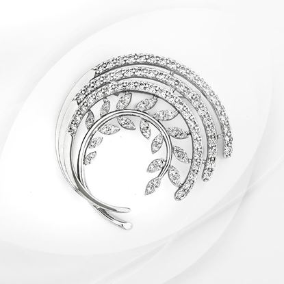 Picture of Rhodium Plated Brooch Jewellery (BH8982)
