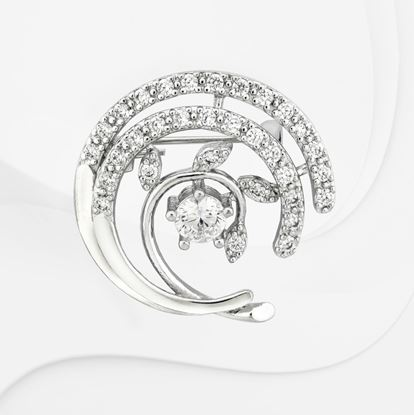 Picture of Rhodium Plated Brooch Jewellery (BH8981)