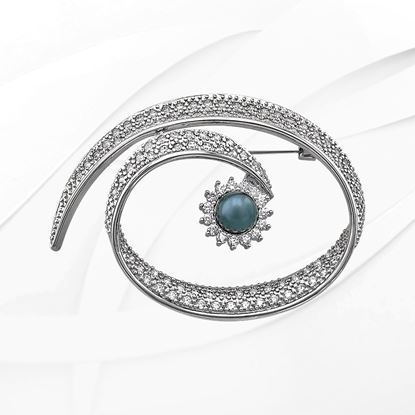 Picture of Rhodium Plated Brooch Jewellery (BH9007)