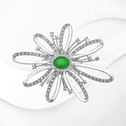 Picture of Rhodium Plated Brooch Jewellery (BH9008)
